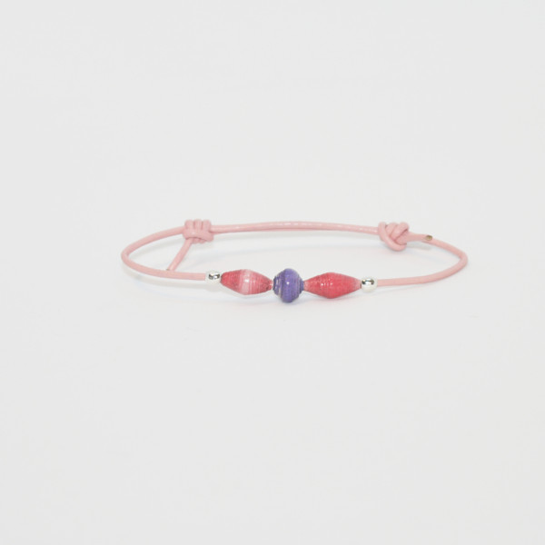 little girl bracelet pink purple drop