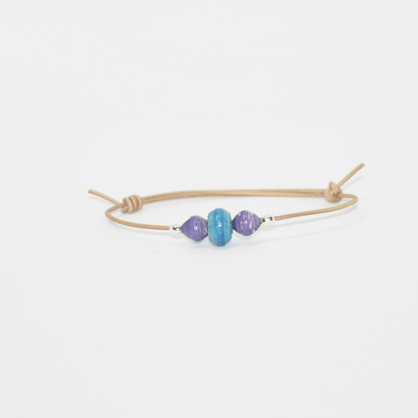 little girl bracelet purple blue drop